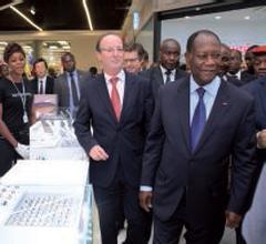 Inauguration centre commercial Playce par le président Ouattara (Côte d'Ivoire)