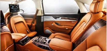 Sièges de l'Audi A8 fournis par Faurecia.