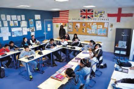 Une classe du collège Le Village de Trappes (78)