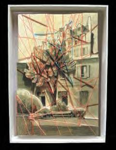La Boîte à claque,, dessin sur photo, polystyrène par GENZLING (56)