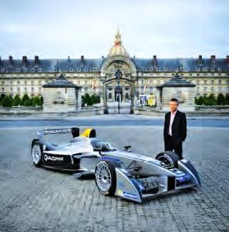 Une Formula-e avec Éric Barbaroux