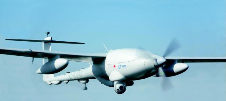 Le drone Patroller en vol