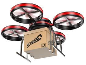 Livraison de colis par drone