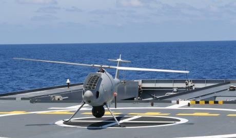 Le drone Serval (Schiebel S-100)
