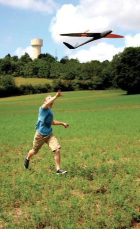 Lancement d'un drone DT-18 de Delair-Tech
