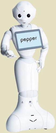 Le robot Pepper de SoftBank Robotics.