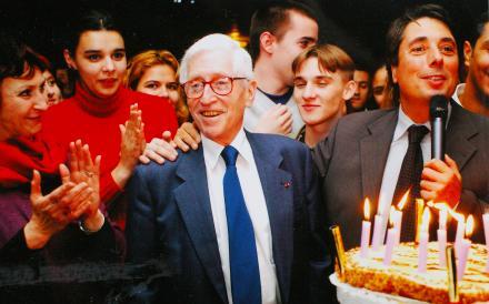 Grenoble 2002, 20e anniversaire de la Mission locale pour Bertrand Schwartz