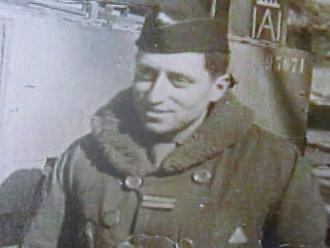 Bertrand Schwartz en 1944, alors qu'il combattait au sein de la 2e DB.