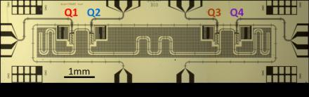 Processeur à quatre bits quantiques