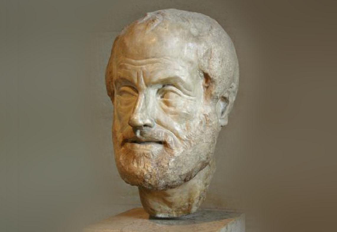 Aristote, auteur des leçons de physique