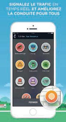 Application WAZE sur smartphone