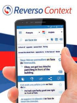 Application reverso Context sur smartphone