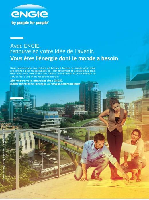 Page de publicité pour ENGIE