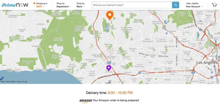 Livraison instantanée à Los Angeles par Amazon
