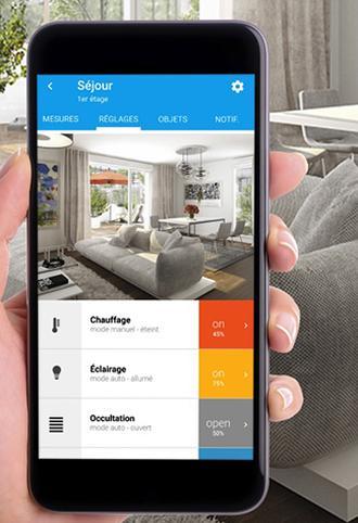 FLEXOM de Bouygues immobilier sur smartphone