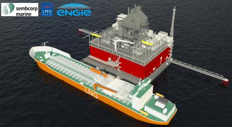 Le Gravifloat développé avec le chantier naval Sembcorp Marine