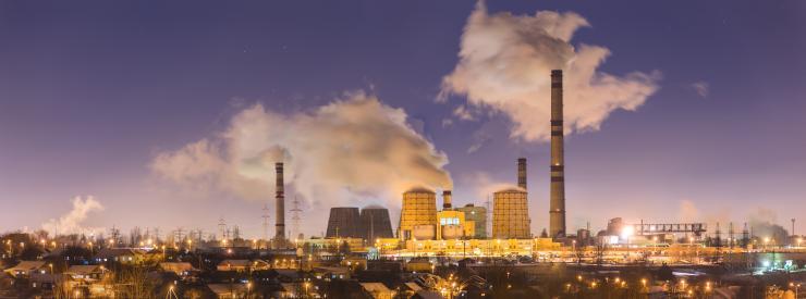 Centrale à charbon polluante