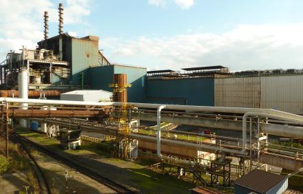 Vue de l'aciérie d'ArcelorMittal à Serémange (intégrée au complexe sidérurgique de Florange), après sa fermeture