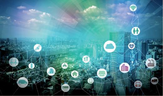 Schéma de la ville connectée et intelligente