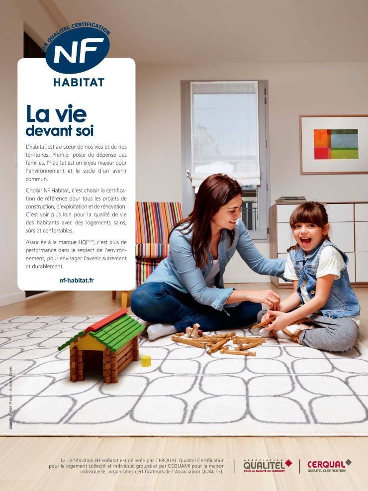 Page de publicité NF Habitat