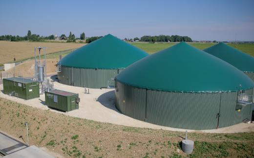 Site Letang Biogaz à Sourdun.