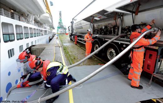Branchement d'alimentation en GNL d'un navire