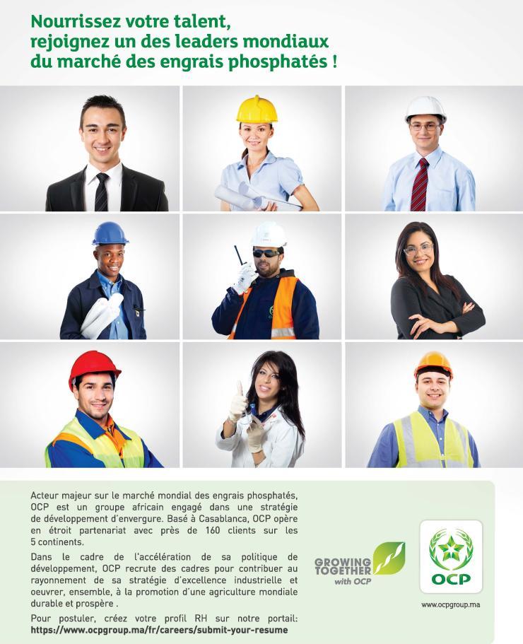 Page de publicité pour OCP