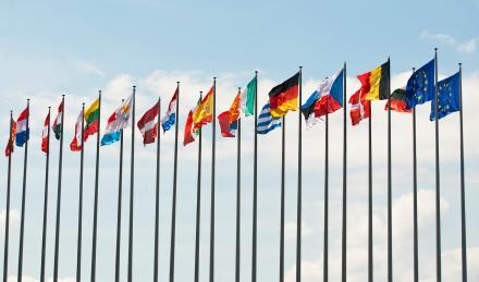 Les drapeaux des pays de l'Europe