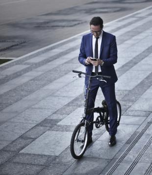 Smartphone à vélo