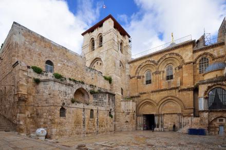 L'église du Saint-Sépulcre à Jérusalem.