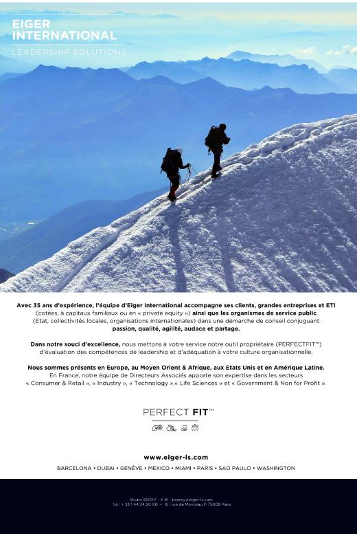 Pade de publicité pour EIGER International