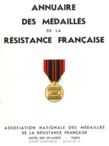 Annuaire des médaillés de la Résistance française