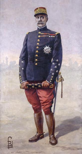 Portrait du maréchal Foch par Louis Bombled
