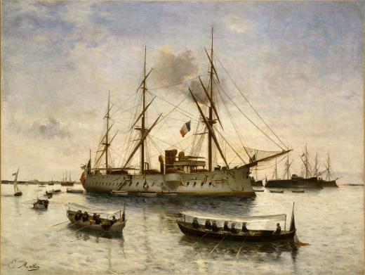 Le retour du Bayard, tableau de Émile Mathon