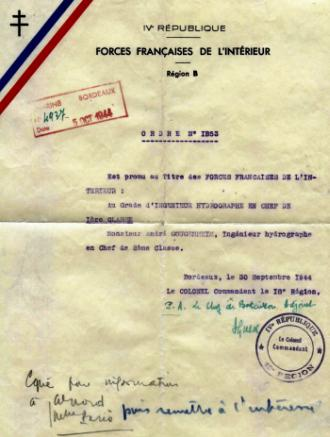 Ordre n°1853 des FFI