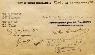 jugé indispensable à l'hydrographie, André Gougenheim signe un contrat de trois ans.