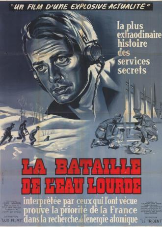 Affiche du film de Jean Dréville, La bataille de l'eau lourde