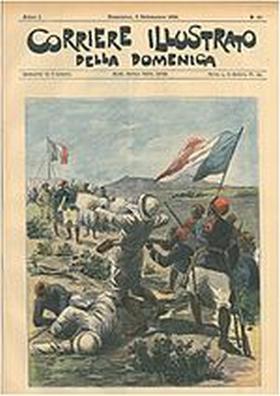 Klobb tué par les troupes de Voulet. Couverture illustrée du journal