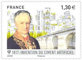 Timbre en l'honneur de Louis VICAT qui a révolutionné le ciment