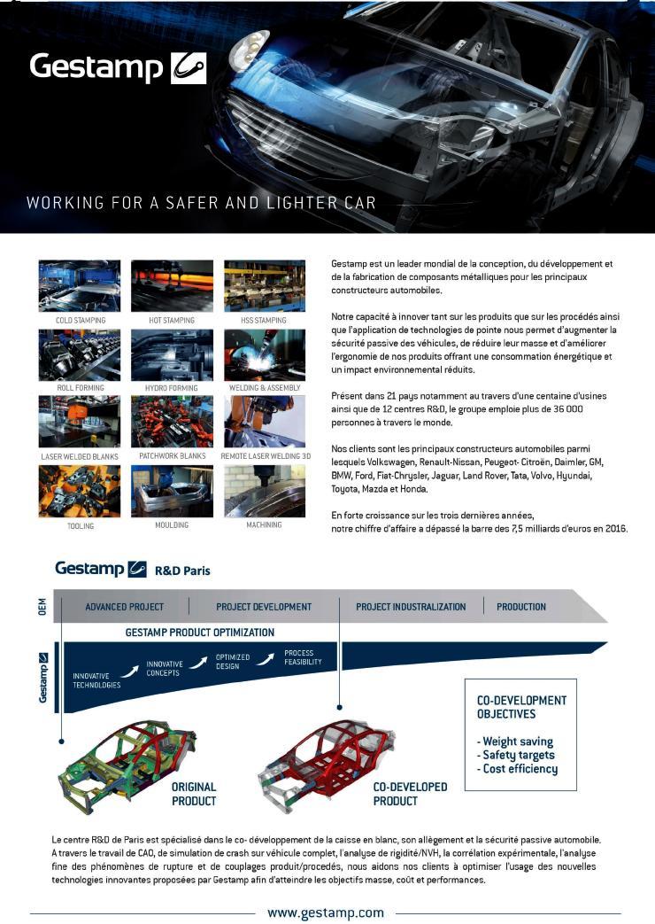 Page de publicité pour GESTAMP