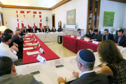Réunion du conseil économique de l'ambassade de France en Israël