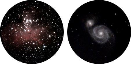 Images du ciel avec eVescope