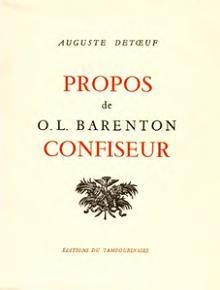 Livre Propos de Barenton, confiseur de Detoeuf
