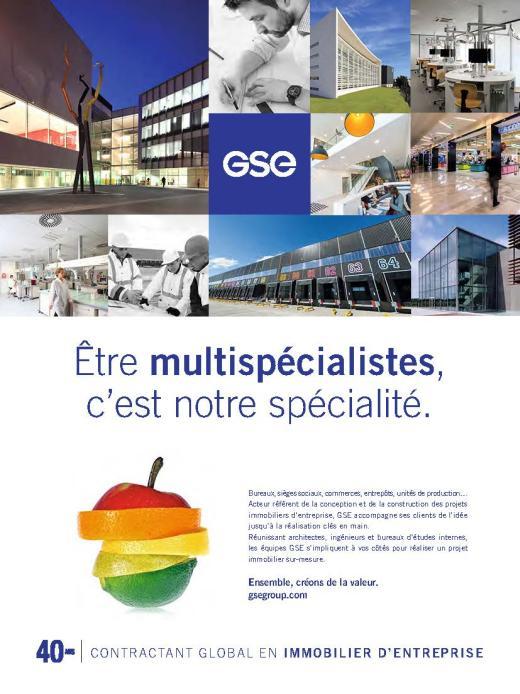 Page de publicité pour GSE