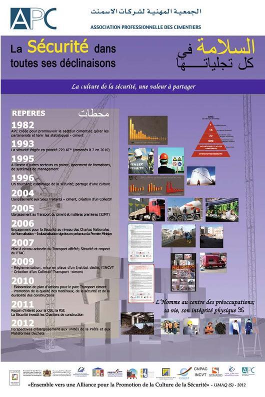 Page de Pub pour APC, association professionnelle des cimentiers -Maroc