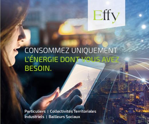 Page de publicité pour Effy