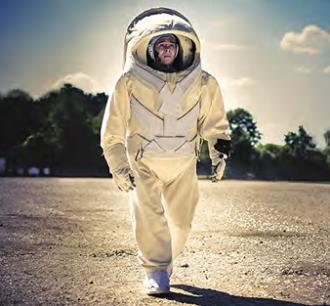 Combinaison martienne : essai sur terre