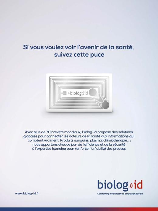 Page de publicité pour Biolog-id