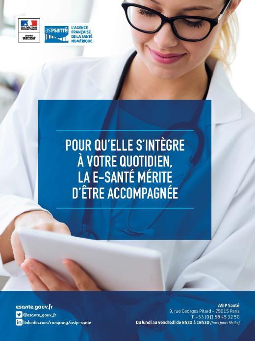 Page de publicité pour ASIP Santé