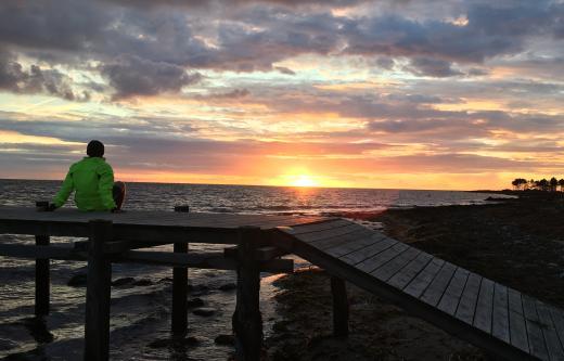 Coucher de soleil au Danemark